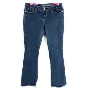 Denizen Levi's modern boot cut jeans.  Dark denim